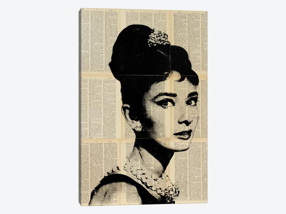 Audrey Hepburn II by Dane Shue 1-piece Canvas Artwork