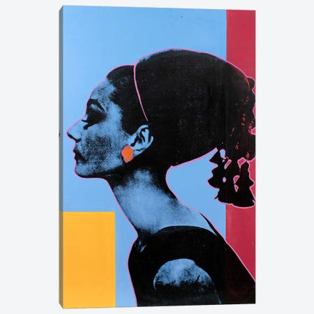 Audrey Hepburn III Canvas Print #DSU18} by Dane Shue Canvas Wall Art