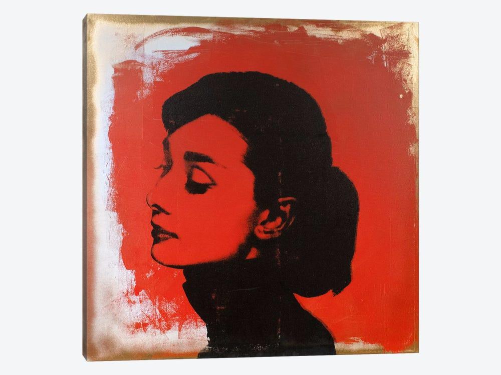 Audrey Hepburn Red by Dane Shue 1-piece Canvas Art