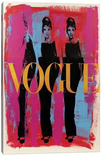 Audrey Hepburn Three Graces Vogue Canvas Art Print