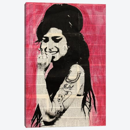 Amy Winehouse Canvas Print #DSU2} by Dane Shue Canvas Print
