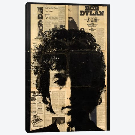 Bob Dylan Canvas Print #DSU30} by Dane Shue Canvas Art