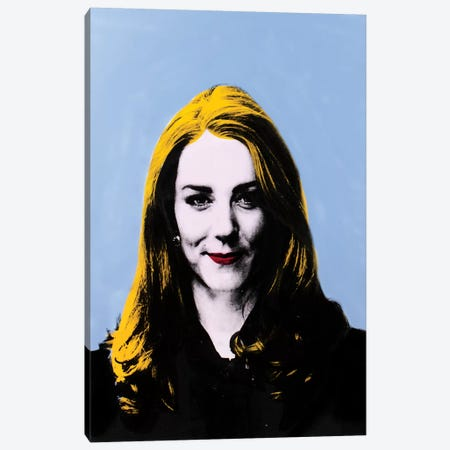 Catherine, Duchess of Cambridge - blue Canvas Print #DSU36} by Dane Shue Art Print