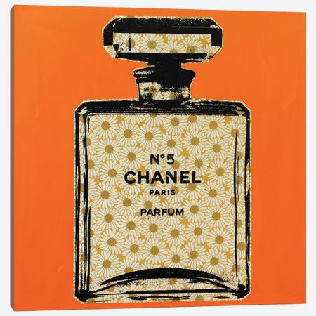 Chanel No 5 Canvas Print #DSU37} by Dane Shue Art Print