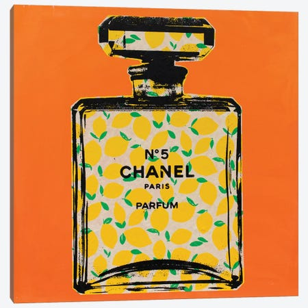 Chanel No. 5 - Lemon Canvas Print #DSU40} by Dane Shue Canvas Print