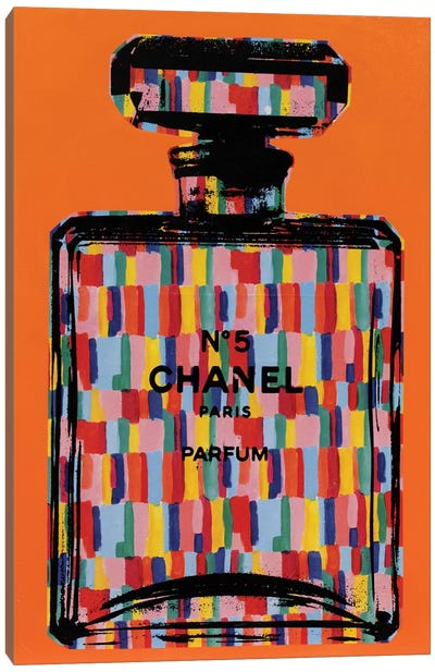 Chanel No. 5 - Rainbow Canvas Art Print