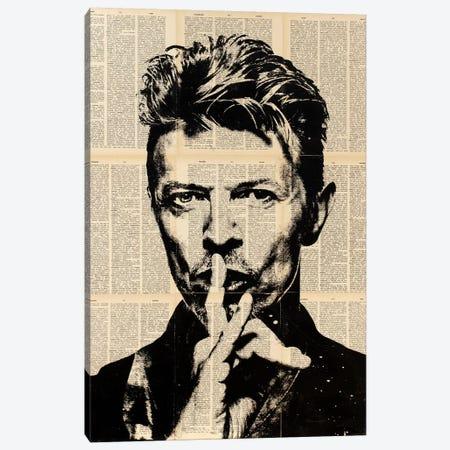 David Bowie 3-Piece Canvas #DSU43} by Dane Shue Canvas Print