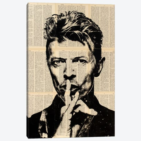 David Bowie Canvas Print #DSU43} by Dane Shue Canvas Print