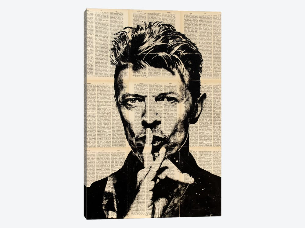 David Bowie by Dane Shue 1-piece Art Print