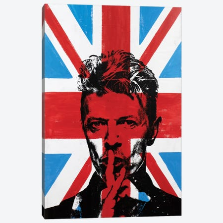 David Bowie - Union Jack Canvas Print #DSU44} by Dane Shue Canvas Artwork