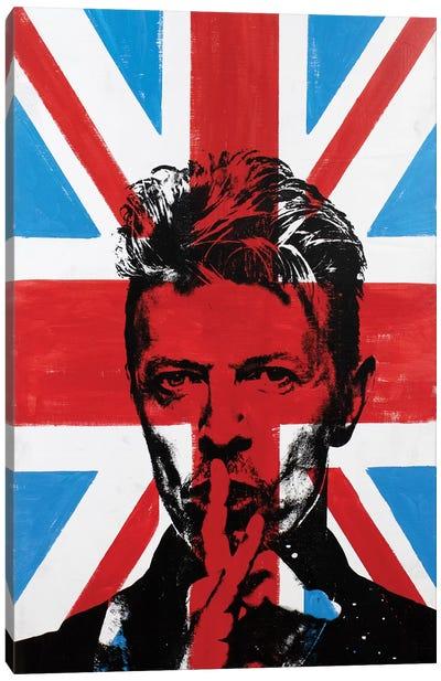David Bowie - Union Jack Canvas Art Print