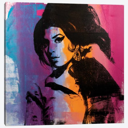 Amy Winehouse II Canvas Print #DSU4} by Dane Shue Canvas Wall Art