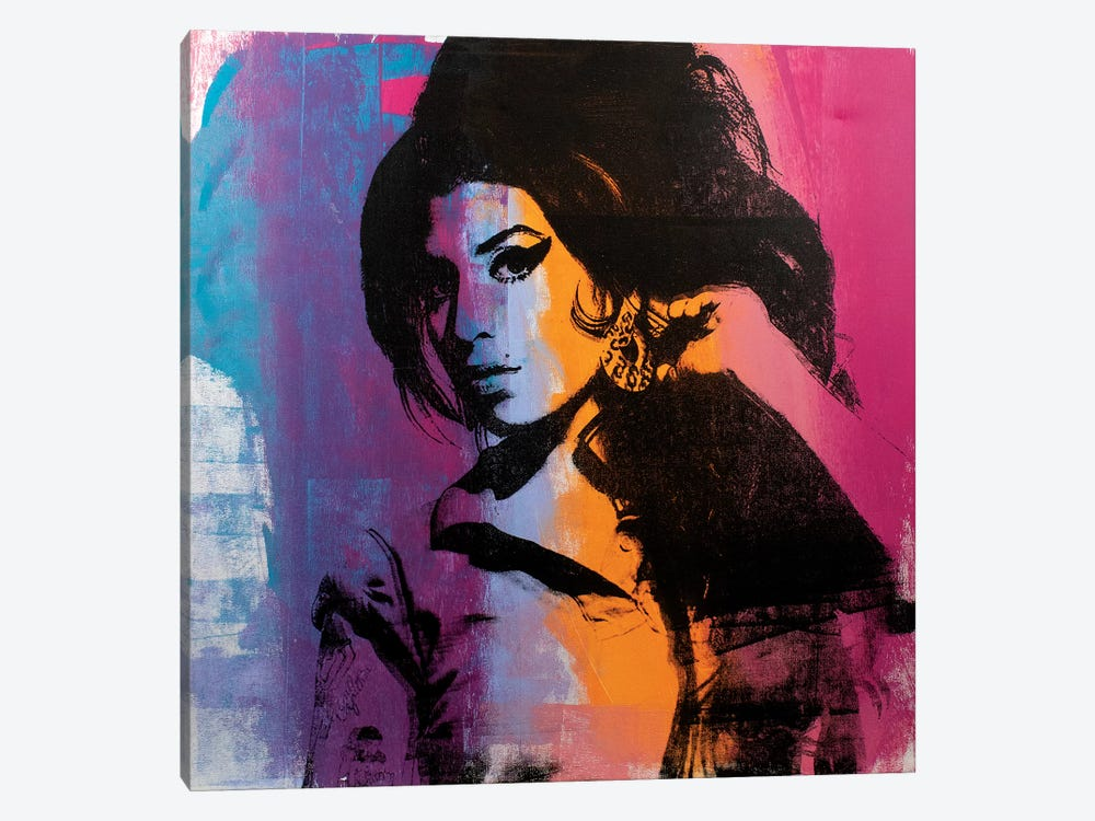 Amy Winehouse II by Dane Shue 1-piece Canvas Art Print