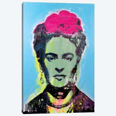 Frida Kahlo - Green Canvas Print #DSU51} by Dane Shue Canvas Wall Art