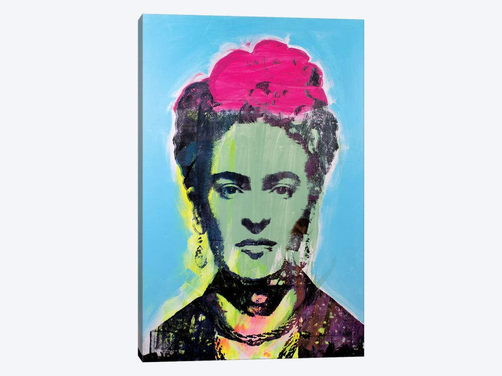 Frida Kahlo - Green by Dane Shue 1-piece Canvas Art