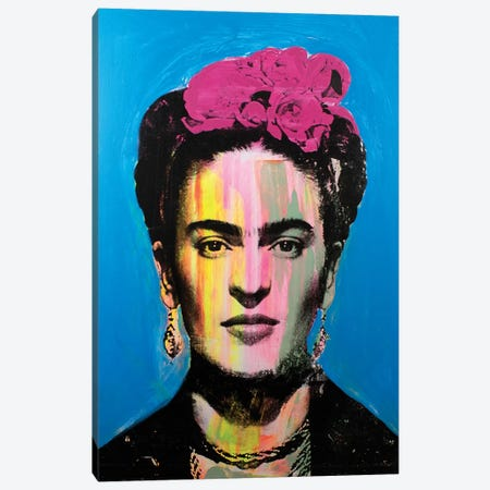 Frida Kahlo - multi Canvas Print #DSU52} by Dane Shue Canvas Wall Art