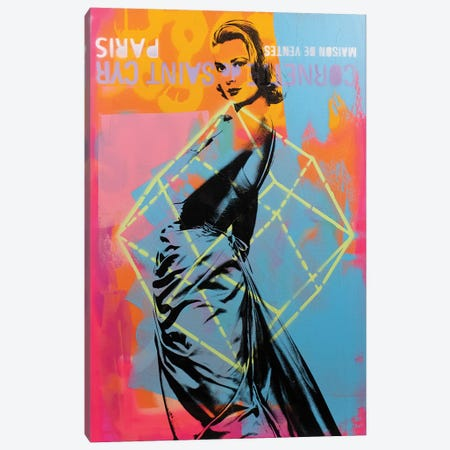 Grace Kelly - blue Canvas Print #DSU54} by Dane Shue Art Print