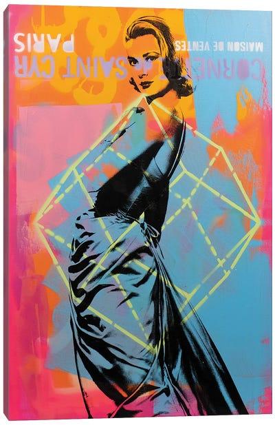 Grace Kelly - blue Canvas Art Print