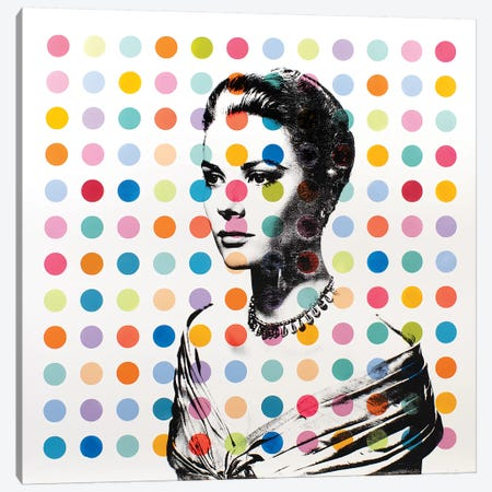 Grace Kelly Dots Canvas Print #DSU55} by Dane Shue Canvas Art Print