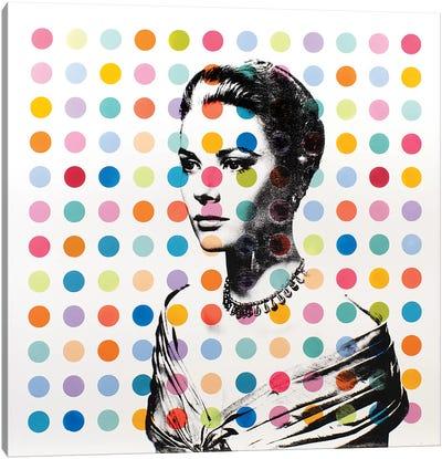 Grace Kelly Dots Canvas Art Print