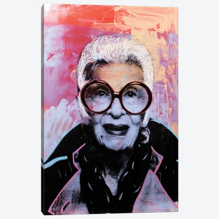 Iris Apfel Canvas Print #DSU57} by Dane Shue Art Print