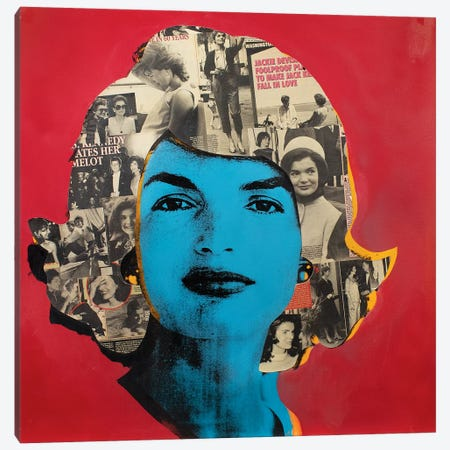 Jackie O Canvas Print #DSU60} by Dane Shue Canvas Print