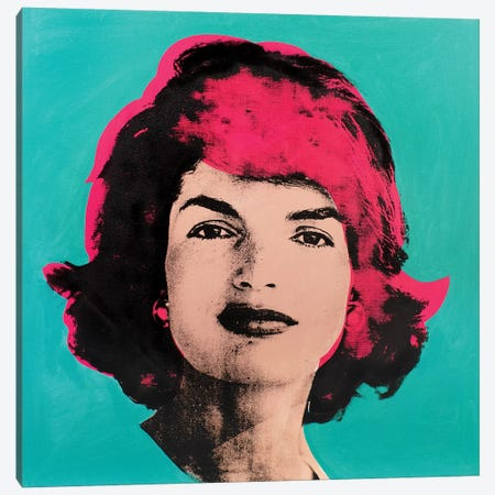 Jackie O - Pink Canvas Print #DSU61} by Dane Shue Art Print