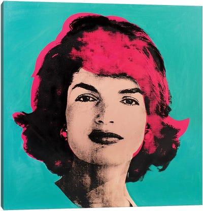 Jackie O - Pink Canvas Art Print