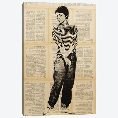Jean Seberg Canvas Print #DSU63} by Dane Shue Canvas Art Print