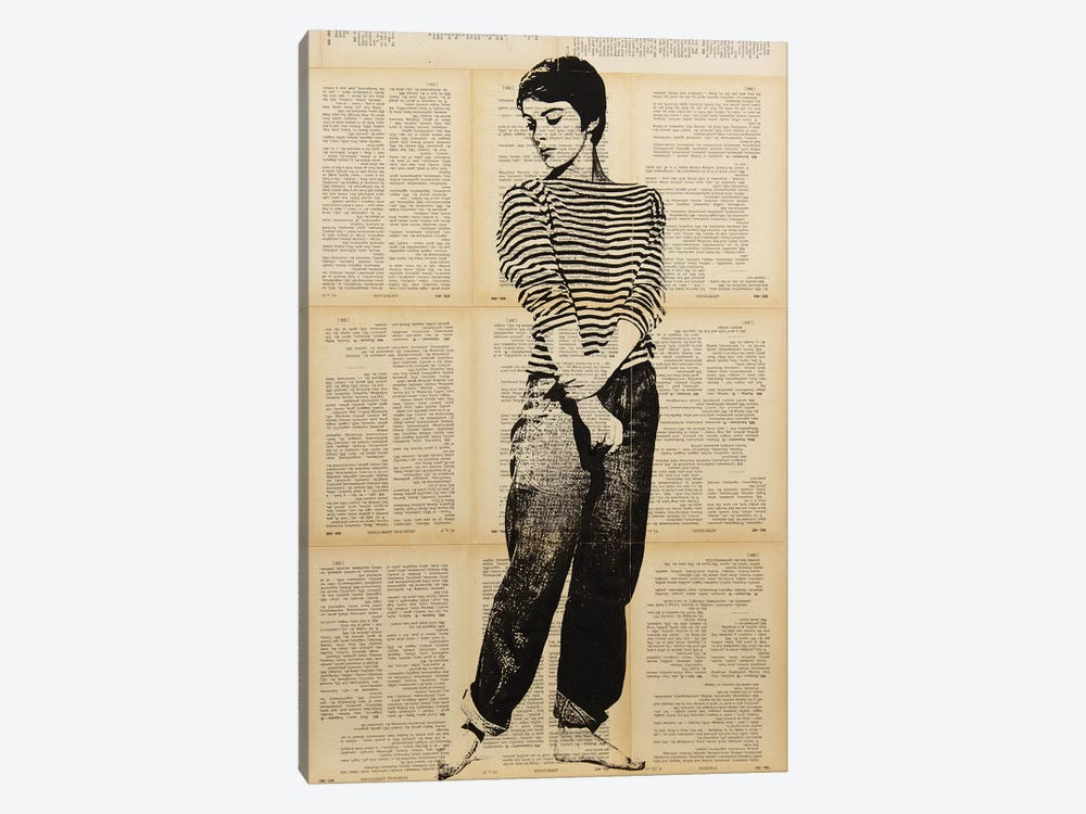 Jean Seberg by Dane Shue 1-piece Canvas Art Print
