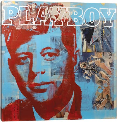 JFK II Canvas Art Print