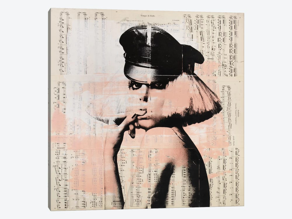 Lady Gaga - Music notes by Dane Shue 1-piece Canvas Print