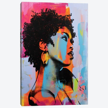 Lauryn Hill Canvas Print #DSU76} by Dane Shue Art Print