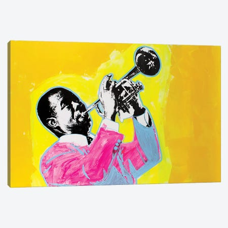 Louis Armstrong Canvas Print #DSU78} by Dane Shue Canvas Artwork