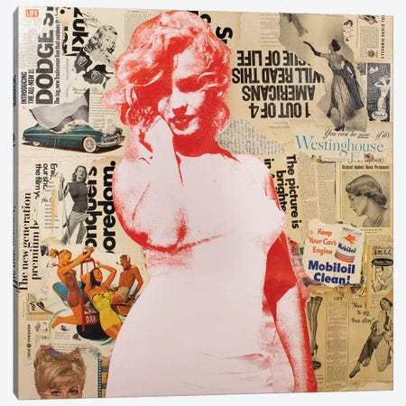 Marilyn Canvas Print #DSU79} by Dane Shue Canvas Art