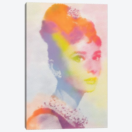 Audrey Breakfast at Tiffanys Canvas Print #DSU7} by Dane Shue Canvas Artwork