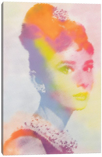 Audrey Breakfast at Tiffanys Canvas Art Print