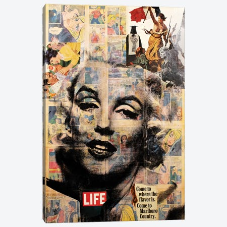 Marilyn Monroe - Life Canvas Print #DSU81} by Dane Shue Canvas Print