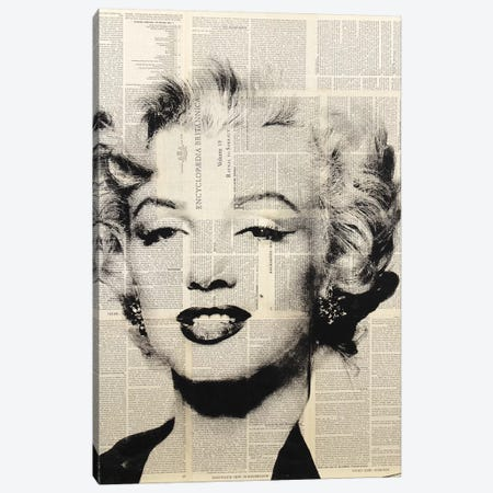 Marilyn Monroe (1) Canvas Print #DSU82} by Dane Shue Art Print