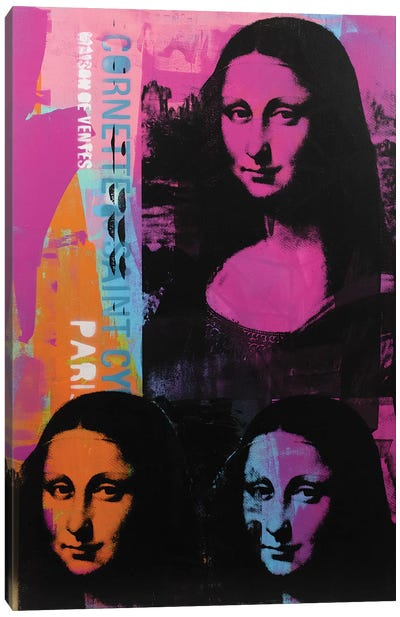 Mona Lisa - 3 Canvas Art Print