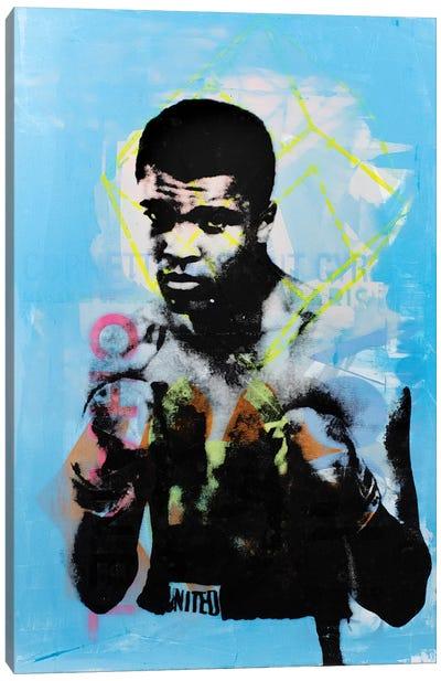 Muhammad Ali - Blue Canvas Art Print