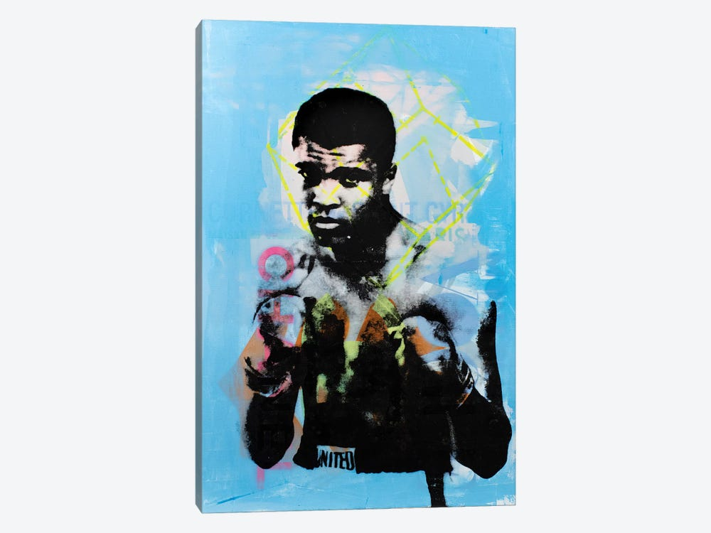 Muhammad Ali - Blue by Dane Shue 1-piece Canvas Art Print