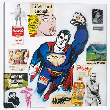 Pop Art Collage Canvas Print #DSU89} by Dane Shue Art Print