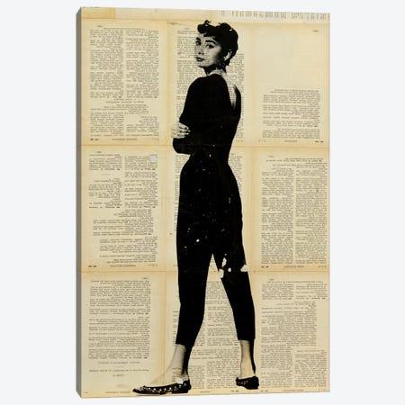 Audrey Hepburn Canvas Print #DSU8} by Dane Shue Canvas Art Print