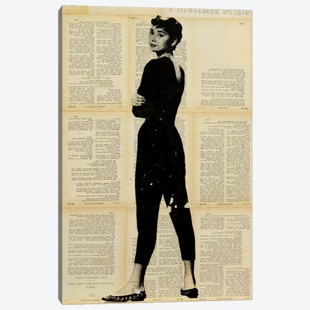 Audrey Hepburn Canvas Print #DSU8} by Dane Shue Canvas Art Print