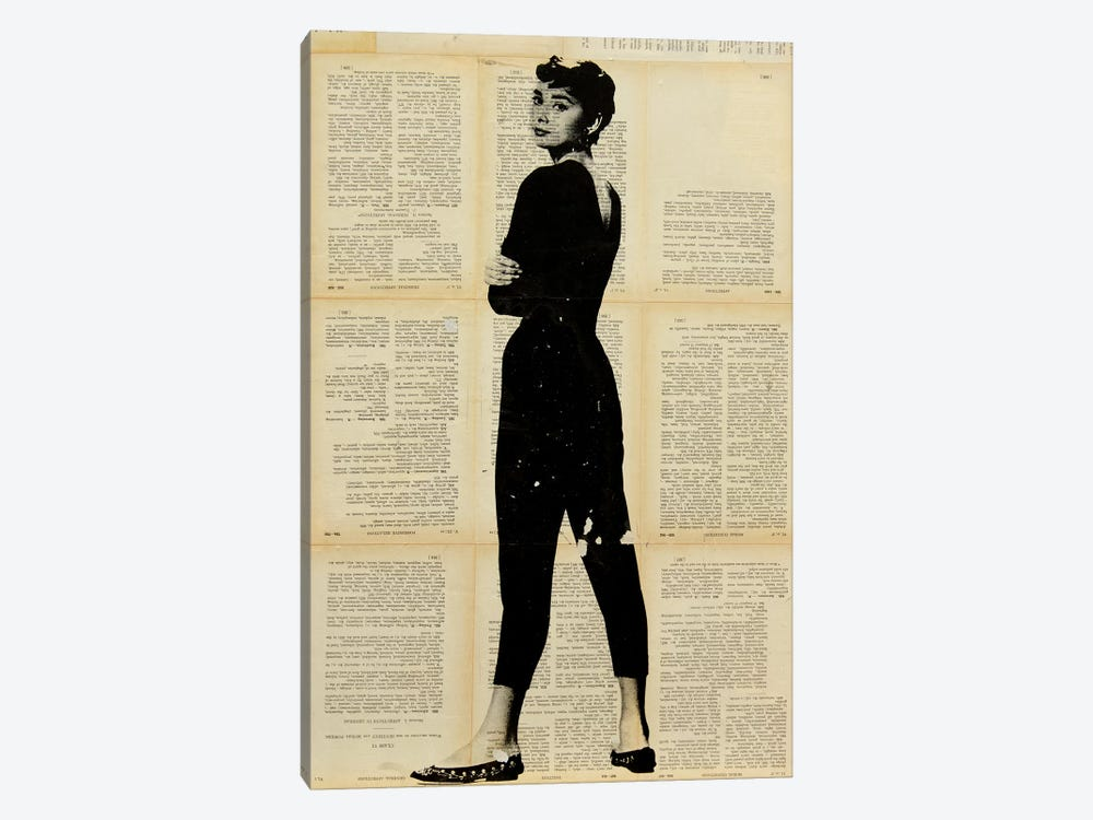 Audrey Hepburn by Dane Shue 1-piece Canvas Print