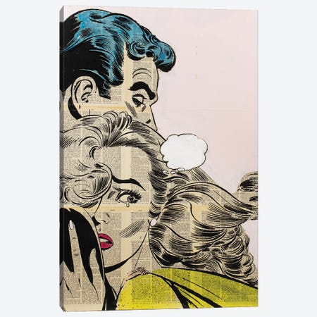 Retro Couple Canvas Print #DSU93} by Dane Shue Canvas Artwork