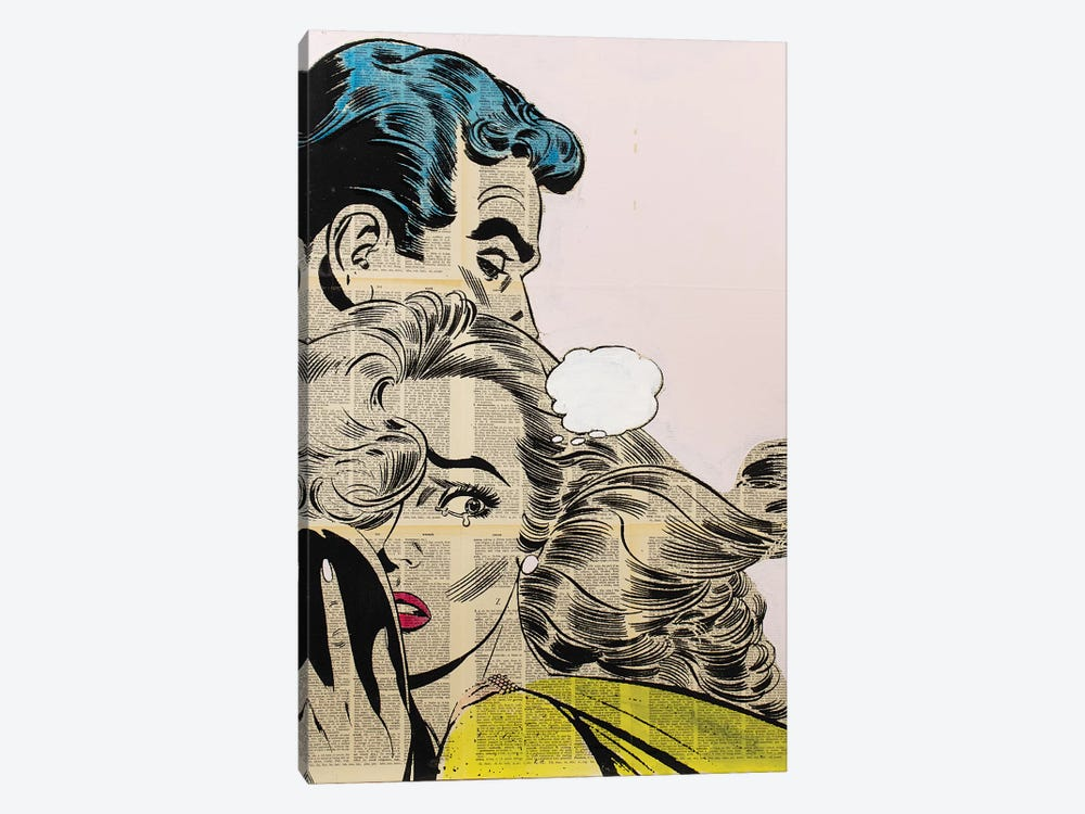 Retro Couple 1-piece Canvas Artwork