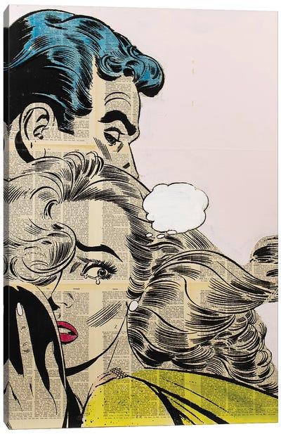 Retro Couple Canvas Art Print