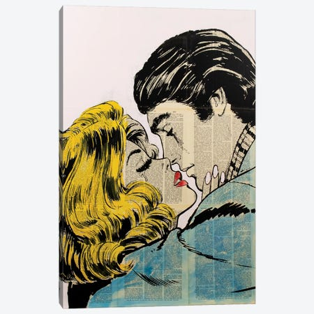 Retro Lovers Canvas Print #DSU94} by Dane Shue Canvas Print
